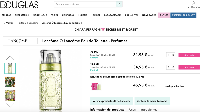 Douglas: perfumería más barata online