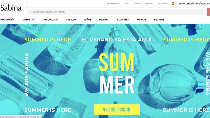 Sabina: perfumería más barata online