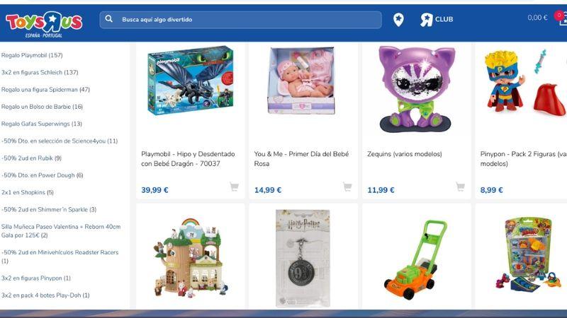 Comprar juguetes baratos en Toys R us