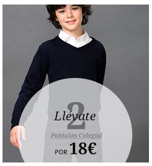 Llévate 2. Pantalón colegial por 18€