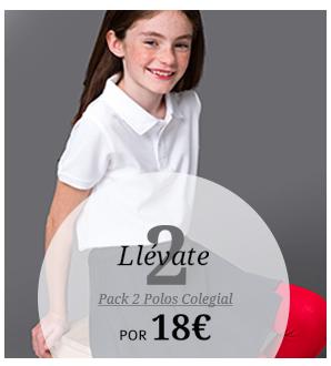 Llévate 2. Pack 2 polos colegial por 18€