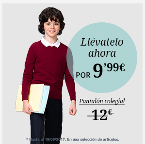 Pantalón colegial 9'99€